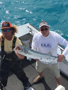 Islamorada January fishing barracuda