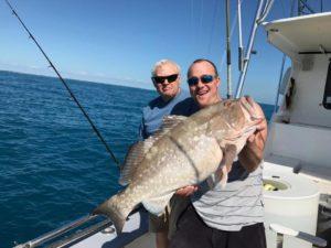 Islamorada January fishing red grouper
