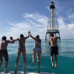 Islamorada fishing report March cool swim