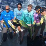 happy dolphin fishermen