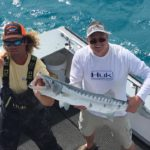 Islamorada January fishing barracuda